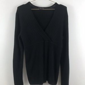 New York and Company women mock wrap sweater